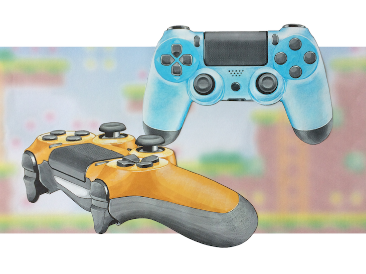 Material case study of PlayStation 4 Controllers.